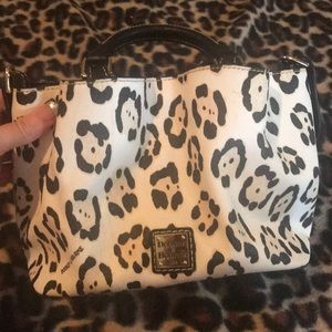 Dooney & Bourke leopard mini Barlow Bucket purse